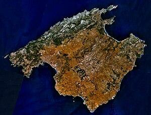 Sattelite image of Majorca