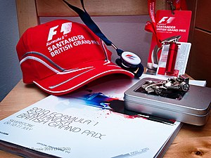 Français : Merchandising Mclaren British GP 2010