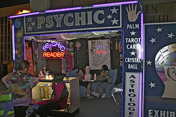 English: Psychic reader booth at the Canadian ...