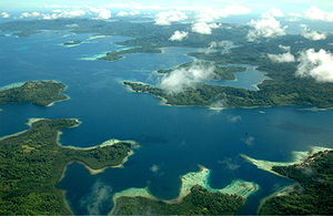 English: Aerial view of SOlomon Islands