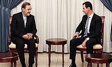 Bashar al-Assad meets with Iran's representative on Syrian affairs, Ali Akbar Velayati, 6 May 2016