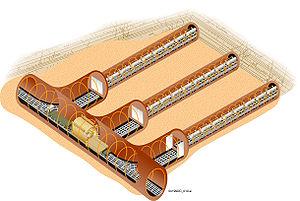 English: Proposed waste storage tunnel design ...