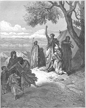 English: Noah Curses Ham and Canaan (Gen. 9:18...