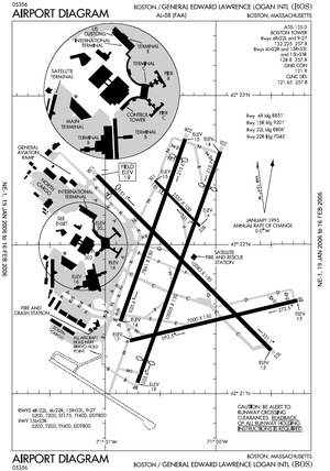 BOS airport map