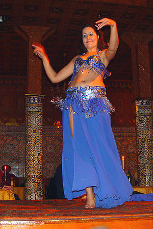 English: A Belly Dancer in Marrakech (Morocco)