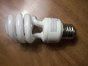 A compact fluorescent lamp for general or home use