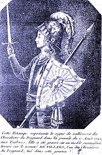 Knight holding a poignard