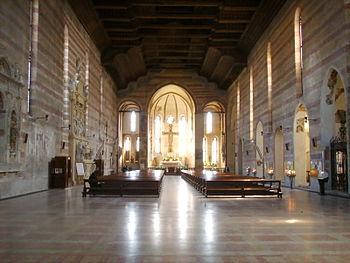 Interno della Chiesa degli Eremitani a Padova.