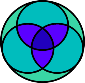 English: a Venn diagram-like symbol for the Ch...
