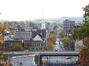 English: Skyline of Easton, PA from Lafayette ...