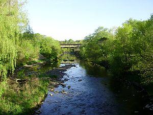 Etobicoke Creek in Toronto, Canada, photograph...