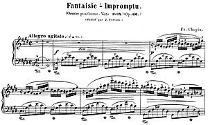Snippet of Fantasie-Impromptu