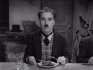 Charlie Chaplin from the film The Great Dictator