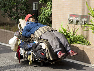 Homeless man, Tokyo.