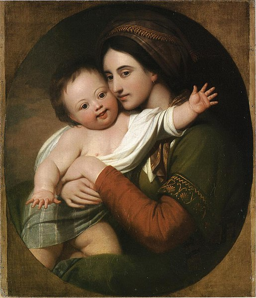 File:Mrs Benjamin West and son Raphael c.1767.jpg