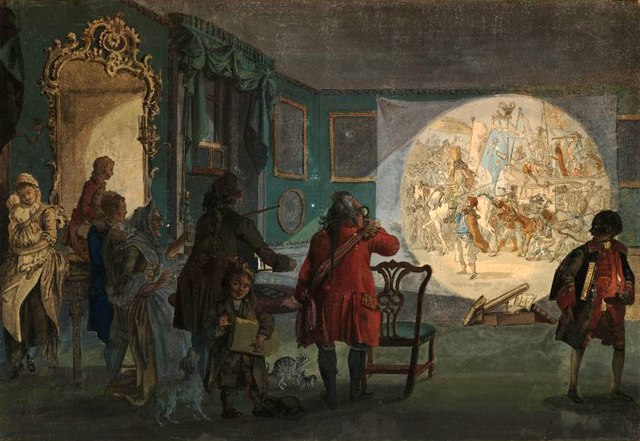 The Laterna Magica, Paul Sandby (c.1760)