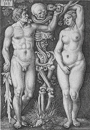 "Photograph of ""Adam and Eve"", 1543. ..."