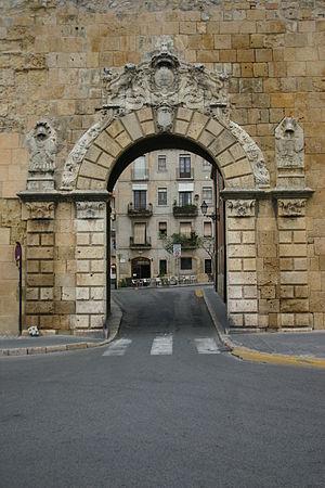 Sant Antoni Gate in Tarragona, Catalonia (Spai...