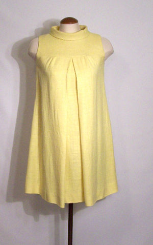 Vintage Yellow Linen Tent Dress
