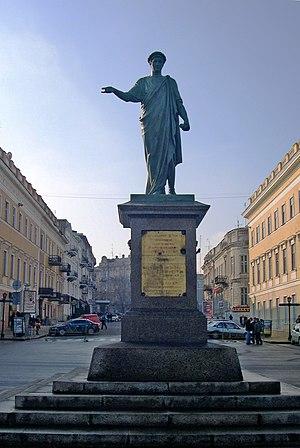 Ukraine, Odessa, Duke statue