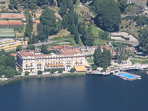 Villa d'Este, Cernobbio, Italy seen from Brunate