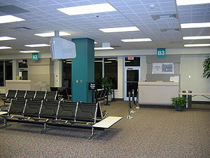 Entrance to gates at Asheville Regional Airpor...