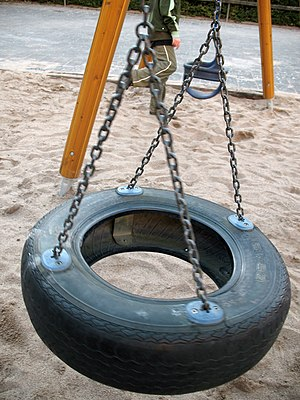 A playground swing. Image taken on 2007-04-12 ...
