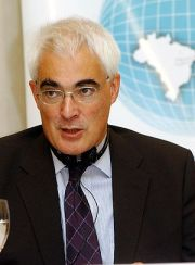 Alistair Darling, British politician and Chanc...