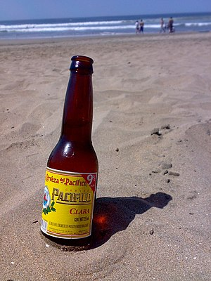 Cerveza Pacifico. Picture taken by me on the p...