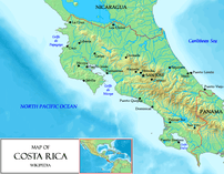 A map of Costa Rica