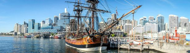 HM Bark Endeavour Replica. Sydney