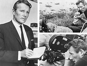 Publicity photo of Howard Duff, working in fro...