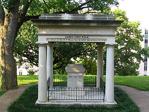 James K. Polk's tomb lies on the grounds of th...