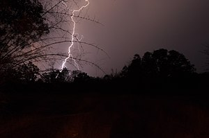 Lightning during a pre-monsoon (summer) thunde...