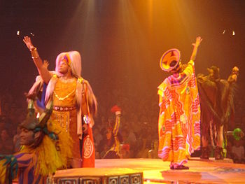 English: Photo of the live show of Lion King, ...