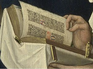 English: Detail of the prayer book
