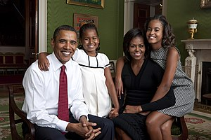 President Barack Obama, First Lady Michelle Ob...