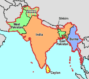 Britain's holdings on the Indian subcontinent ...