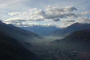 Vista della Val di Susa dalla Sacra di San Michele