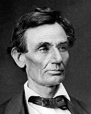 Cropped portion of Abraham Lincoln Photograph,...