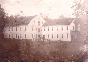 English: Photograph of the Alamance Cotton Mil...