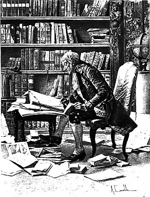Engraving of an Erudite Researcher