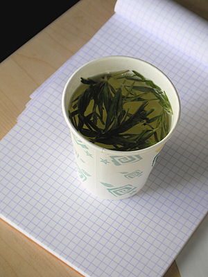 In China, tea leaf is in cup Like Bali coffee....