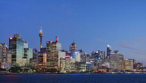 Sydney sunset from the Balmain wharf. Sydney A...