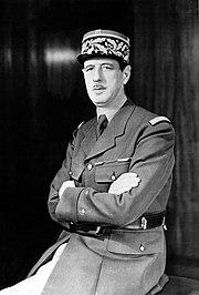 Charles de Gaulle, héroe de Francia durante la Segunda Guerra Mundial.