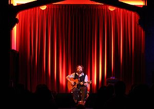 Iron & Wine performing at the Swedish American...