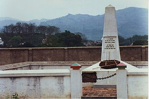 memorial to the 10,000+ French colonial troops...