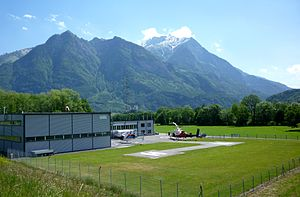 English: Heliport in Balzers, Liechtenstein. I...