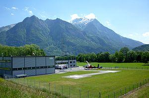 English: Heliport in Balzers, Liechtenstein. I...