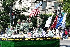Iwo Jima Memorial reenactment at the Memorial ...